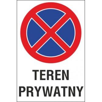 Naklejka zakaz zatrzymywania i postoju ZZP13 teren prywatny
