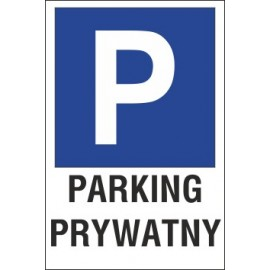 Naklejka znak parking P14 parking prywatny