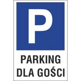 Naklejka znak parking P15 parking dla gości