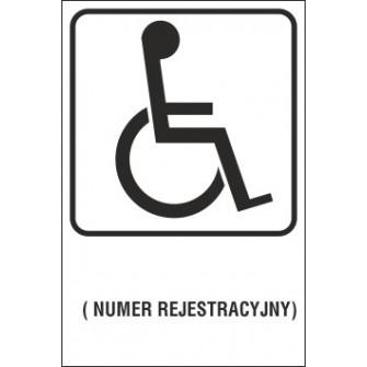 Naklejka miejsce dla inwalidy MI01x numer rejestracyjny