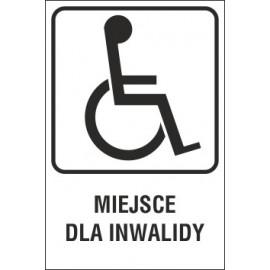 Naklejka miejsce dla inwalidy MI02 miejsce dla inwalidy