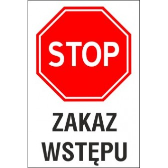 Naklejka STOP S01 zakaz wstępu