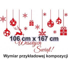 Naklejka dekoracyjna - SF14 świąteczne ozdoby