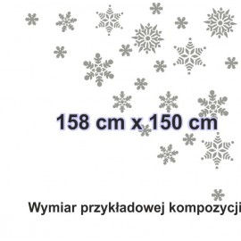 Naklejka dekoracyjna - SF18 płatki śniegu