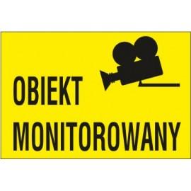 Naklejka obiekt monitorowany OM01