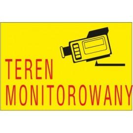 Naklejka teren monitorowany TM05