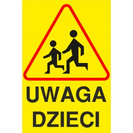 tabliczka Uwaga dzieci UD02
