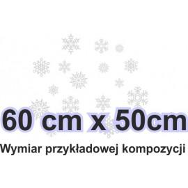 Naklejka dekoracyjna - SF19 płatki śniegu