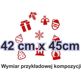 Naklejka dekoracyjna - SF21 ozdoby świąteczne