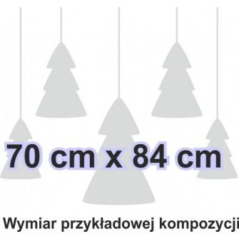 Naklejka dekoracyjna - SF22 choinki