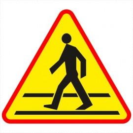 Znak drogowy A-16 Przejście dla pieszych