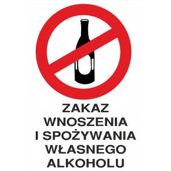 Naklejka zakaz spożywania alkoholu ZA05