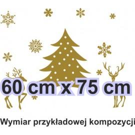 Naklejka dekoracyjna - SF24 świąteczny widok