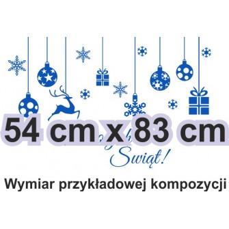 Naklejka dekoracyjna - SF25 ozdoby świąteczne małe