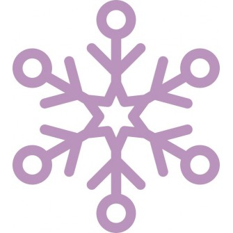 Naklejka ścienna, na ścianę, dekoracyjna N239 płatek śniegu