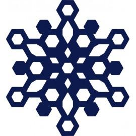 Naklejka ścienna, na ścianę, dekoracyjna N252 płatek śniegu