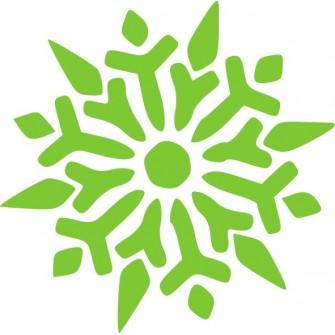 Naklejka ścienna, na ścianę, dekoracyjna N253 płatek śniegu
