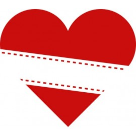 Naklejka ścienna, na ścianę, dekoracyjna N255 serce