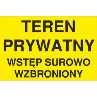 tabliczka teren prywatny TP08