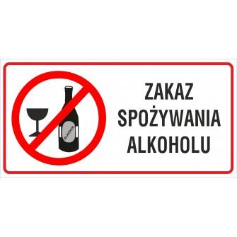 naklejka INZ14 zakaz spożywania alkoholu