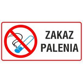 naklejka INZP9 zakaz palenia