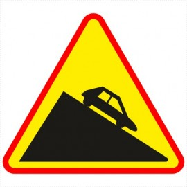 Znak drogowy A-22 Niebezpieczny zjazd