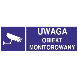 Naklejka uwaga obiekt monitorowany o2