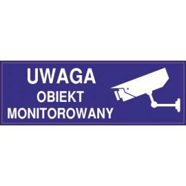 Naklejka uwaga obiekt monitorowany o3