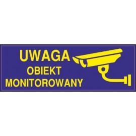 Naklejka uwaga obiekt monitorowany o4