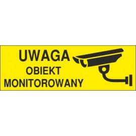 Naklejka uwaga obiekt monitorowany o6
