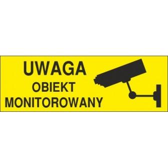 Naklejka uwaga obiekt monitorowany o7