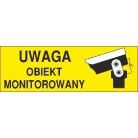 Naklejka uwaga obiekt monitorowany O8