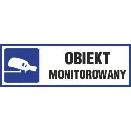 Naklejka obiekt monitorowany O12