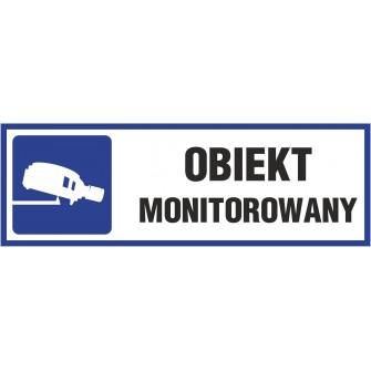 Naklejka uwaga obiekt monitorowany o12