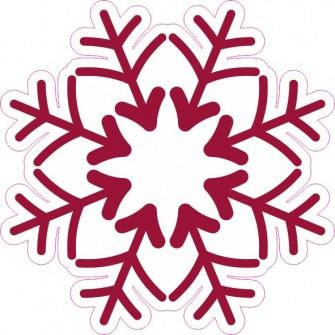 Naklejka ścienna dekoracyjna D233 płatek śniegu