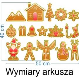 Naklejka dekoracyjna SD 11 świąteczne pierniczki małe