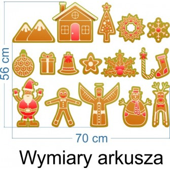 Naklejka dekoracyjna SD 12 świąteczne pierniczki