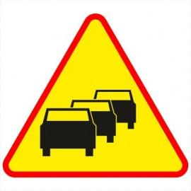 Znak drogowy A-33 Zator drogowy