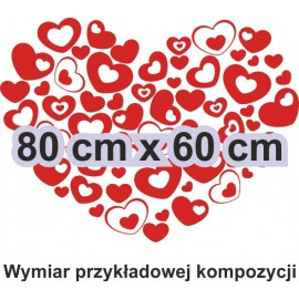 Naklejka dekoracyjna - SF33 serca