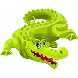Naklejka ścienna dekoracyjna D268 krokodyl