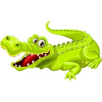 Naklejka ścienna dekoracyjna D269 krokodyl