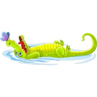 Naklejka ścienna dekoracyjna D270 krokodyl
