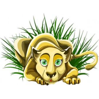 Naklejka ścienna dekoracyjna D271 lwica