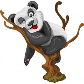 Naklejka ścienna dekoracyjna D273 panda