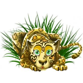 Naklejka ścienna dekoracyjna D274 tygrys