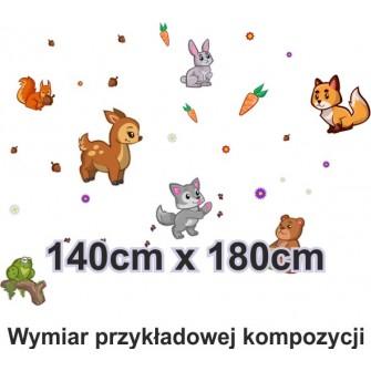 Naklejka ścienna SD20 zwierzęta leśne