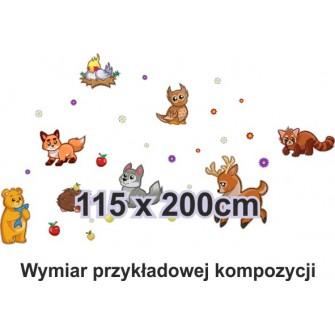 Naklejka ścienna SD21 zwierzęta leśne