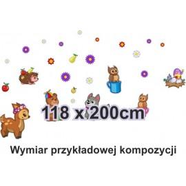 Naklejka ścienna SD22 zwierzaki