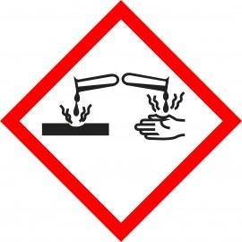 naklejka GHS05  - Substancje żrące