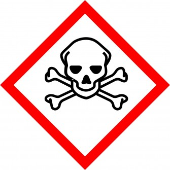 naklejka GHS06 - Substancje bardzo toksyczne